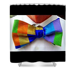 Knotted Spectrum Shower Curtain