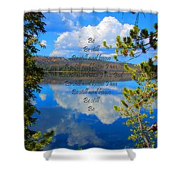 Shower Curtain featuring the photograph Know I Am by Diane E Berry