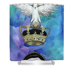 Shower Curtain featuring the painting Know Who You Are by Nathan Rhoads