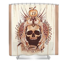 Knowledge Shower Curtain by Deadcharming Art