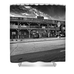 Knuckle Saloon Sturgis Shower Curtain