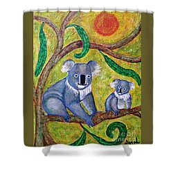 Koala Sunrise Shower Curtain