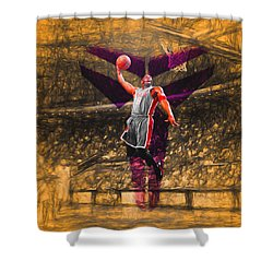 Kobe Bryant Black Mamba Digital Painting Shower Curtain