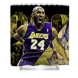 Kobe Bryant Collection Shower Curtain by Marvin Blaine
