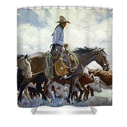 Koerner: Cowboy, 1920 Shower Curtain by Granger