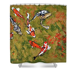 Koi 201746 Shower Curtain by Alyse Radenovic