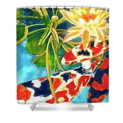 Koi Fish #104 Shower Curtain by Donald k Hall