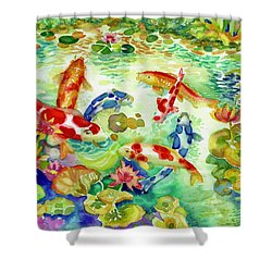 Koi Pond I Shower Curtain