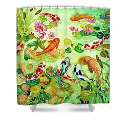 Koi Pond II Shower Curtain