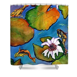 Koi Pond II Sold Shower Curtain by Lil Taylor