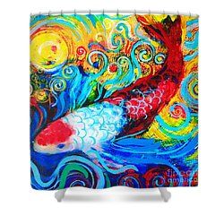 Koi Splash Shower Curtain