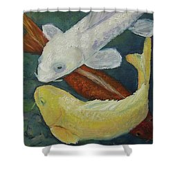 Koi Shower Curtain by Susan  Spohn