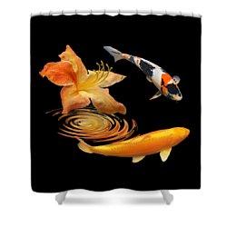 Koi With Azalea Ripples Shower Curtain