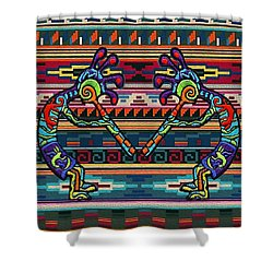 Kokopelli Art Shower Curtain
