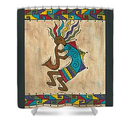 Kokopelli Sax Player Shower Curtain