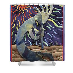 Kokopelli Spring Shower Curtain