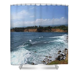 Shower Curtain featuring the photograph Kolaha Coast by Pamela Walton
