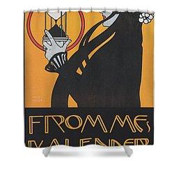 Koloman Moser Plakat  Fur Frommes Kalender 1899 Shower Curtain