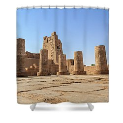 Shower Curtain featuring the photograph Kom Ombo by Silvia Bruno