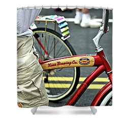 Kona Beer Bike Shower Curtain