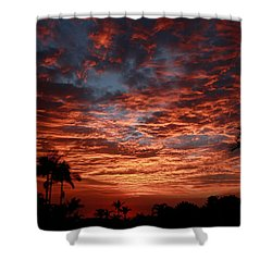 Kona Fire Sky Shower Curtain by Denise Bird