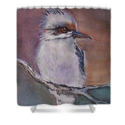 Shower Curtain featuring the painting Kookaburra Fancy by Leslie Allen