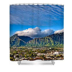 Shower Curtain featuring the photograph Koolau And Pali Lookout From Kanohe by Dan McManus