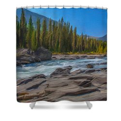 Kootenay River Shower Curtain