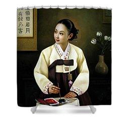 Korea Belle 2 Shower Curtain