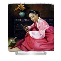 Korea Belle 3 Shower Curtain