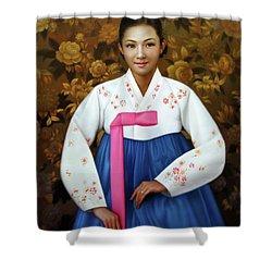 Korea Belle 6 Shower Curtain