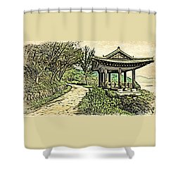 Korean Architecture Shower Curtain