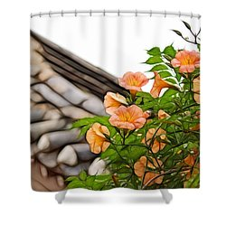 Shower Curtain featuring the photograph Korean Beauty by Cameron Wood