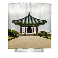 Shower Curtain featuring the photograph Korean Bell Of Friendship by Ed Clark