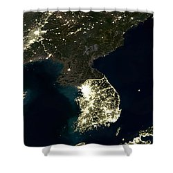 Korean Peninsula Shower Curtain