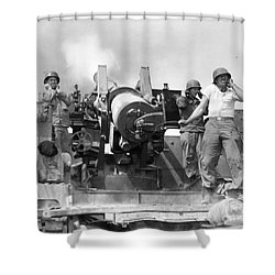 Korean War: Artillerymen Shower Curtain by Granger