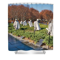 Korean War Memorial Shower Curtain