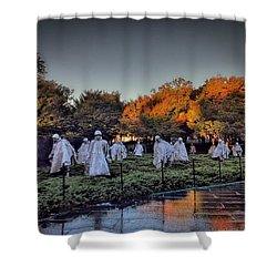 Korean War Memorial In Washington Dc Shower Curtain