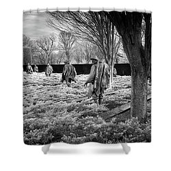 Korean War Memorial Shower Curtain