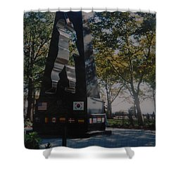Korean War Memorial Shower Curtain by Rob Hans