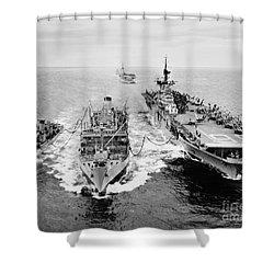 Korean War: Ship Refueling Shower Curtain by Granger