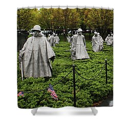 Korean War Veterans Memorial Shower Curtain