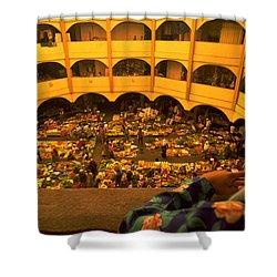 Shower Curtain featuring the photograph Kota Bahru Indoor Market by Travel Pics