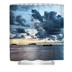 Kota Kinabalu Sunset Shower Curtain