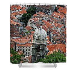 Kotor Rooftops Shower Curtain
