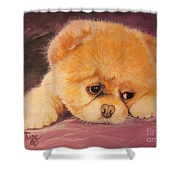 Koty The Puppy Shower Curtain