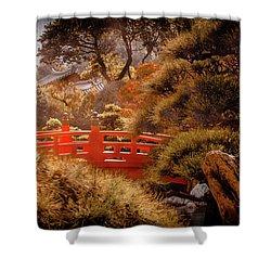 Kowloon - Red Bridge Shower Curtain