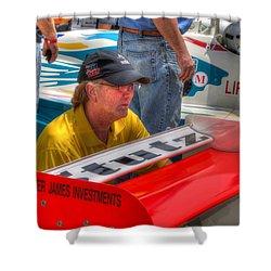 Kraig Johnson Driver Mechanic Raconteur Shower Curtain by Josh Williams