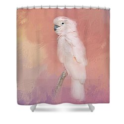 Kramer The Moluccan Cockatoo Shower Curtain by Theresa Tahara
