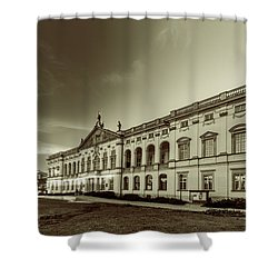Krasinski Family Palace In Warsaw In Monochrome Shower Curtain